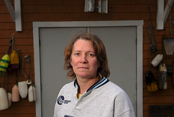 Donna Ecklund, 40, of Steuben is one of nearly 130 workers at the Stinson's sardine cannery who will be out of work when the plant closes in April. &quotWe're all pretty upset, but we all take it in stride,&quot said Ecklund who started working at the plant in 1987. &quot We hope for the best. We'll either get a new profession or take whatever comes in.&quot Photographed Tuesday,  March 30, 2010 at her family's home in Steuben. BANGOR DAILY NEWS PHOTO BY JOHN CLARKE RUSS