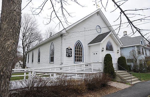 St. George Greek Orthodox Church on Sanford Street in Bangor. Photographed April 8, 2010. (Bangor Daily News/John Clarke Russ)