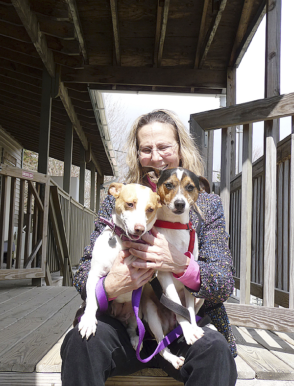 Lorna Konyak, the manager of The Ark Animal Shelter in Cherryfield, wrangles two wiggly terriers that are up for adoption. The Ark, which serves all of Washington and Hancock County, recently was awarded $5,000 in the Bangor Savings Bank community service program. The Ark was chosen because it got the highest number of votes submitted for the Down East region. A number of other area non-profits received $1,000 prizes. (Bangor Daily News/Sharon Mack)