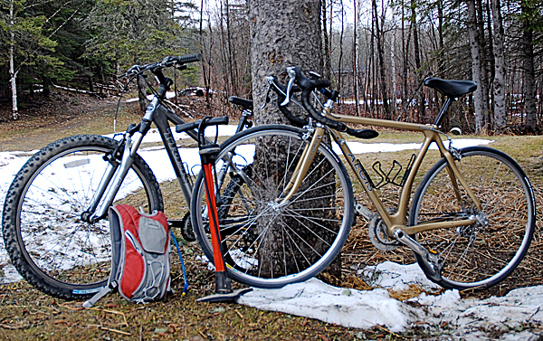 There are still patches of snow on the ground in northern Maine, but unseasonably warm pre-spring temperatures has gotten area cycling enthusiasts outdoors and on their bikes weeks before the traditional start of the bicycling season. Weather it's single track or on the paved roads, there are miles of cycling possibilities in Aroostook County and with a little preparation and planning on the part of riders, the area is custom made for two-wheeled exploration. JULIA BAYLY PHOTO