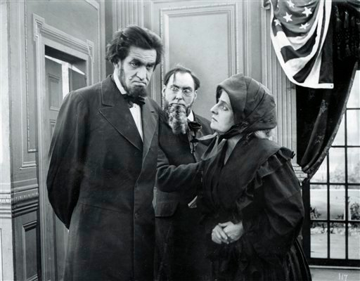 ** CORRECTS  SPELLING OF ROLE IN FIRST SENTENCE **In this handout photo courtesy of the Academy of Motion Picture Arts and Sciences director and film star Francis Ford is seen in the role of Abraham Lincoln in a 1913 film that had been lost for 97 years. (AP Photo)