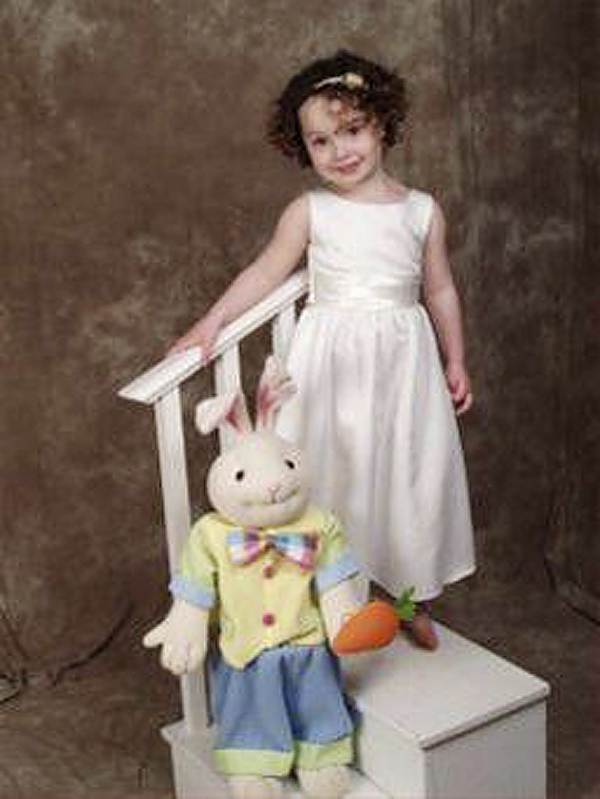 MARS HILL -- Bobbi Guerrette, 3, pictured here in an Easter photo, will be heading to California next week to prepare for surgery that will eventually create ears for her. Bobbi was born with bilateral microtia with atresia. The condition is evident at birth and essentially means she was born without ears. She will have the first of two surgeries to correct the condition on April 23. Anonymous donors are paying for the entire cost of the surgeries. PHOTO COURTESY OF THE GUERETTE FAMILY