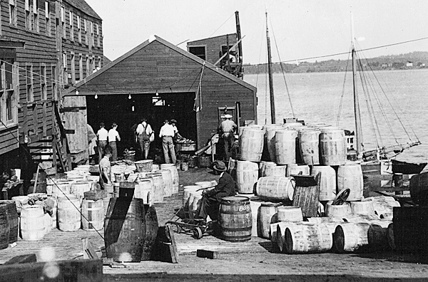 Workers at the B. H. Wilson Fish Packing Co. in Eastport in an undated photo.  PHOTO COURTESY OF BORDER HISTORICAL SOCIETY