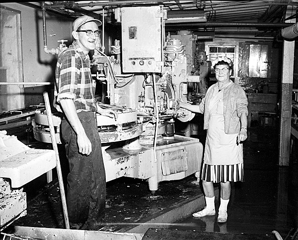 Three images were taken by Everett &quotRed&quot Boutillier. One of them is of a sardine can sealer at the sardine factory in Port Clyde circa 1970. The other two are of the Jacob Pike, the last of the great sardine carriers built in 1949. This boat is currently owned by the Penobscot Marine Museum and we are currently raising funds to restore it and use it as an educational boat, raising awareness of the now-defunct herring industry and the efficient carriers that helped make it possible. Later, the aim is for her to become the centerpiece for a permanent, land-based sardine exhibit as well as for an exhibit of smaller craft to showcase the heritage of Maine?s boat- and shipbuilding skills, past and present. PHOTO COURTESY OF PENOBSCOT MARINE MUSEUM