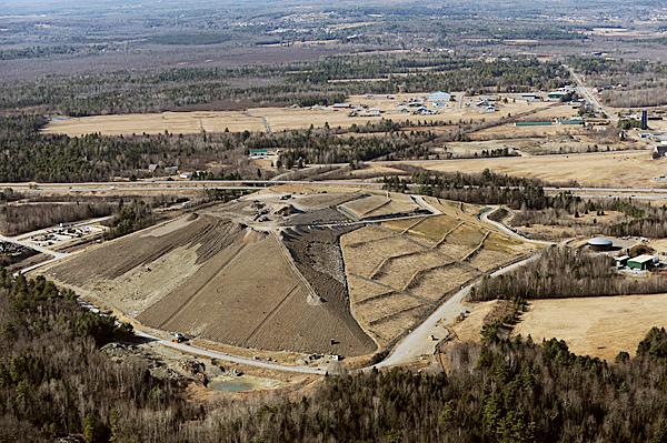 The Pine Tree Landfill in Hermon as seen on Friday, March 19, 2010. BANGOR DAILY NEWS PHOTO BY KEVIN BENNETT