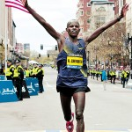 Kenya's Mutai wins Boston in record 2:03:02