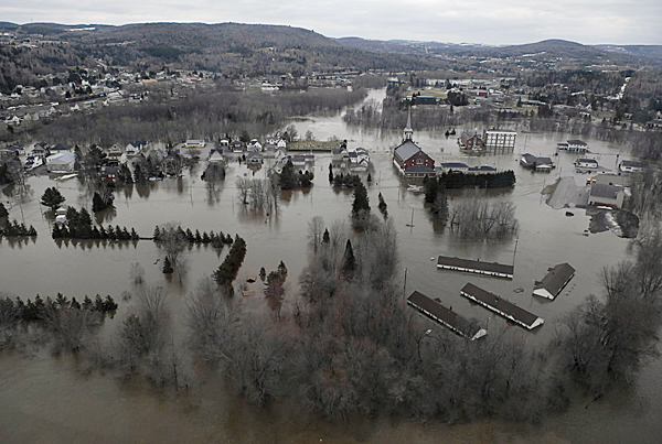 A confluence of flood water from the St. John River and Fish River inundated downtown Fort Kent in this April 30, 2008 file photo. BANGOR DAILY NEWS FILE PHOTO BY JOHN CLARKE RUSS