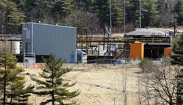 The site of the former HoltraChem facility in Orrington where, among other chemicals, a large amount of mercury was used to manufacture chemicals used in paper-making and other industries.  The company operated under several owners from 1960 until 2000.  The site is in the process of being cleaned up because it was heavily contaminated with mercury.   BANGOR DAILY NEWS FILE PHOTO BY GABOR DEGRE