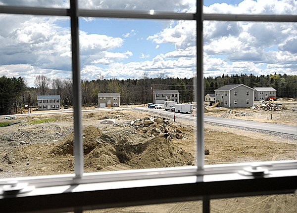 A new housing development built by Woods of Maine, Inc. in Bangor. BANGOR DAILY NEWS PHOTO BY GABOR DEGRE