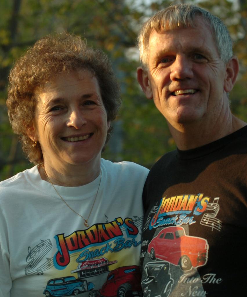 Jordans drive in4 KB  Ellsworth, Maine 5/17/2006  Carol and Jimmy Jordan owners of Jordan's Drive In in Ellsworth. (BANGOR DAILY NEWS PHOTO BY KEVIN BENNETT)