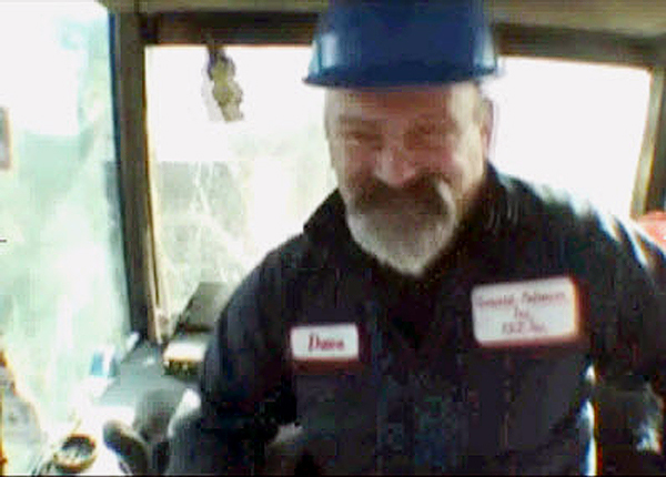 a video frame of Davey McLaughlin as he appeared on a job site in the Discovery Channel's &quotAmerican Loggers&quot. McLaughlin recently passed away. (Image courtesy Discovery Channel)