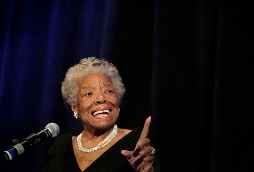 Dr. Maya Angelou speaks at a luncheon for Planned Parenthood, Inc. in San Antonio on Wednesday, April 14, 2010. The luncheon raised $300,000 for programs by the organization. (AP Photo/San Antonio Express-News, Kin Man Hui) RUMBO DE SAN ANTONIO OUT; MAGS OUT; NO SALES