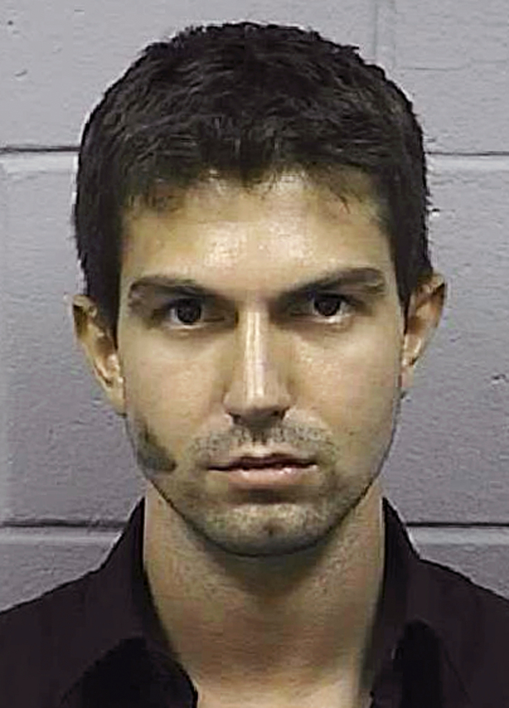 This April 2010 booking photo released by the Penobscot County Sheriff's Department shows Derek Stansberry, of Riverview, Fla. Stansberry faces charges for behavior that caused Delta Air Lines Flight 273 to divert to Bangor, Maine, on Tuesday from its scheduled route from Paris to Atlanta. (AP Photo/Penobscot County Sheriff's Department)
