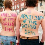 Topless march draws onlookers in Portland