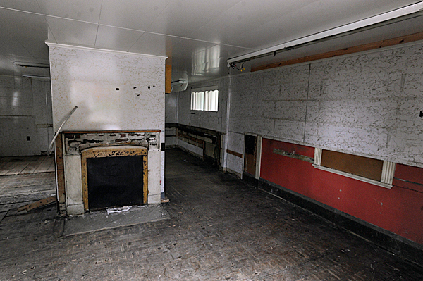 The gutted interior of the now-closed Coffee Pot sandwich shop on State Street in Bangor, just hours before it was demolished Monday, May 3, 2010. BANGOR DAILY NEWS PHOTO BY JOHN CLARKE RUSS
