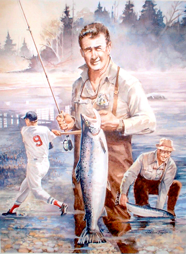 Ted Williams painting by Artist Arthur Taylor of Lee, died late April, 2010. HOLYOKE STORY