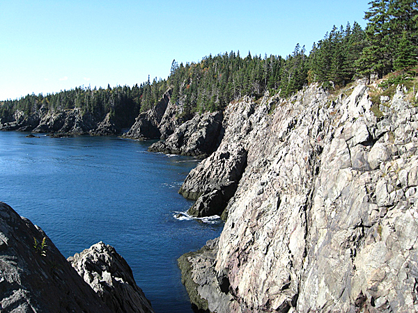 These cliffs rise from the ocean in Cutler on the Coastal Trail in the Bold Coast area of down east. The region is becoming recognized as a hiking destination. There are over forty miles of hiking trails in the area spread across 19 different conserved properties.  BRAD VILES PHOTO  05.08.10