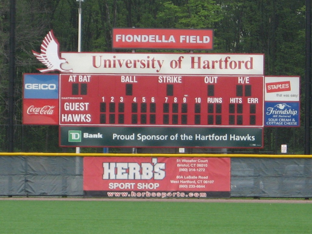UMaine baseball at Hartford, Fiondella Field, West Hartford, Conn.