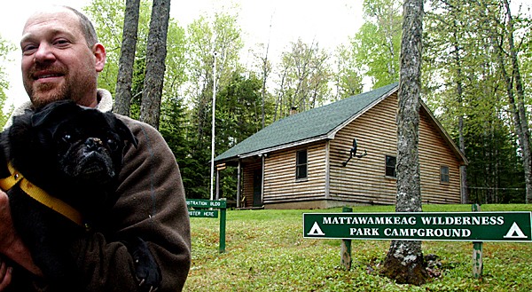 new mattawamkeag wilderness park campground manager chris bilik franklin and his 8 year