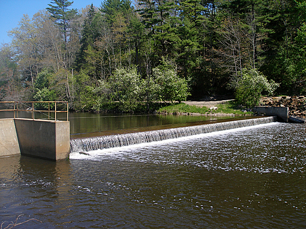 Voters at the annual town meeting in Orland this week voted to take over ownership of this dam on the Orland River from Verso Paper which offered the dam earlier this year. Details about the transfer still need to be worked out, according to town officials. BANGOR DAILY NEWS PHOTO BY RICH HEWITT