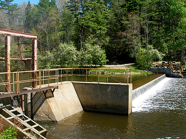 The Orland River dam is seen in May 2010.