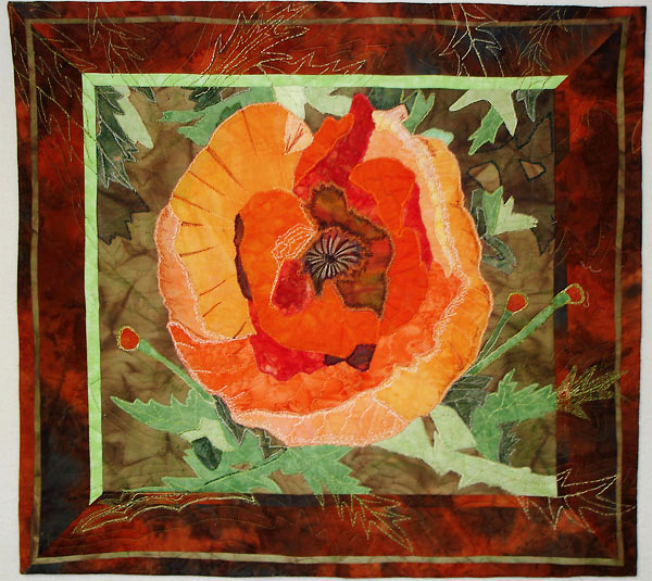 ?Poppy,? a quilt made by Kathy Lee of Old Orchard Beach, was inspired by poppies in her garden. Lee has been selected as the 2010 Meet the Quilter by the Pine Tree Quilters Guild for its annual quilt show July 29-Aug. 1 in Augusta.