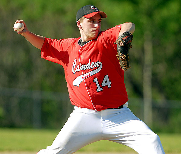 BELFAST, ME -- MAY 20, 2010 -- Camden Hills pitcher Zach Dufour.LINDA COAN O'KRESIK