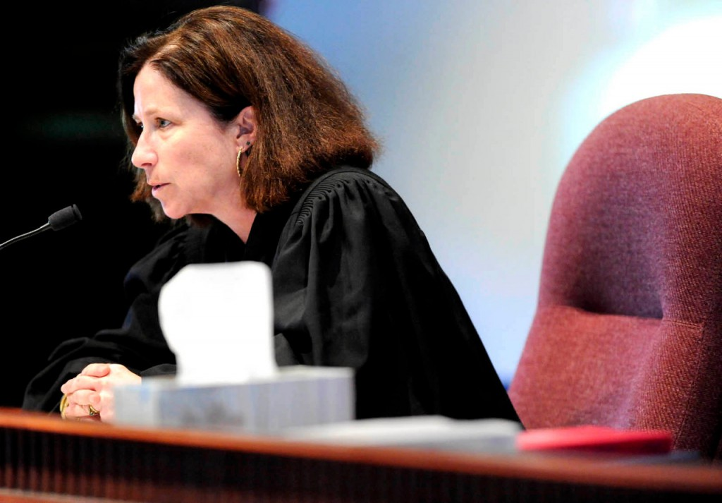 Maine Superior Court Justice Michaela Murphy addresses Justin Ptaszynski at his plea and sentencing hearing at Kennebec Superior Court in Augusta, Maine  Friday afternoon, May 21, 2010. BANGOR DAILY NEWS PHOTO BY JOHN CLARKE RUSS