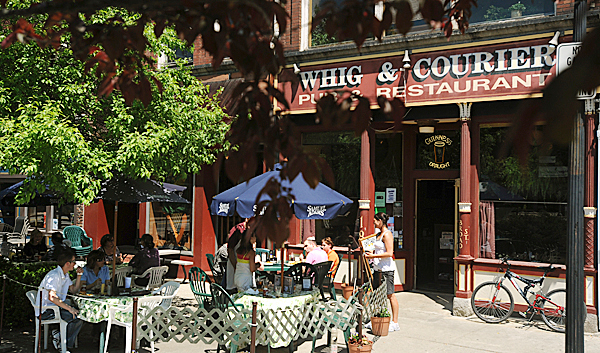 The Whig & Courier pub and restaurant in Bangor.  Owners Chris and Michelle Geaghan announced through the restaurant's website that after 26 years the &quotWhig&quot is closing for good. BANGOR DAILY NEWS PHOTO BY GABOR DEGRE