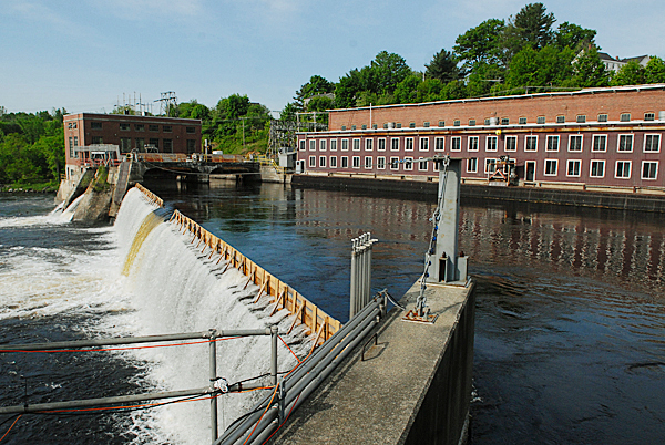 A view of Veazie Dam seen from atop the salmon trap there Tuesday, May 25, 2010. Since starting this year's survey on May 3, DMR fisheries biologists have counted 242 salmon at the trap. BANGOR DAILY NEWS PHOTO BY JOHN CLARKE RUSS