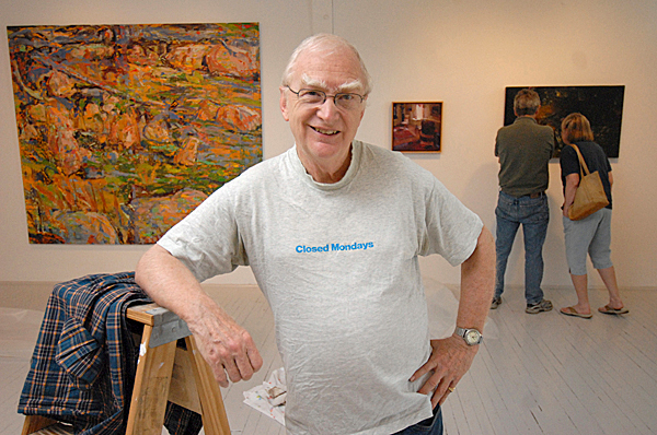 Bruce Brown, who now lives in Portland, has returned to Rockport this spring and summer as a curatorial consultant at the Center for Maine Contemporary Art, which is celebrating its biennial with an exhibit starting May 29. Brown is among the people who started the center two decades ago and he has returned to help it get back to full speed after its temporary closing this past winter.  BANGOR DAILY NEWS PHOTO BY JOHN CLARKE RUSS