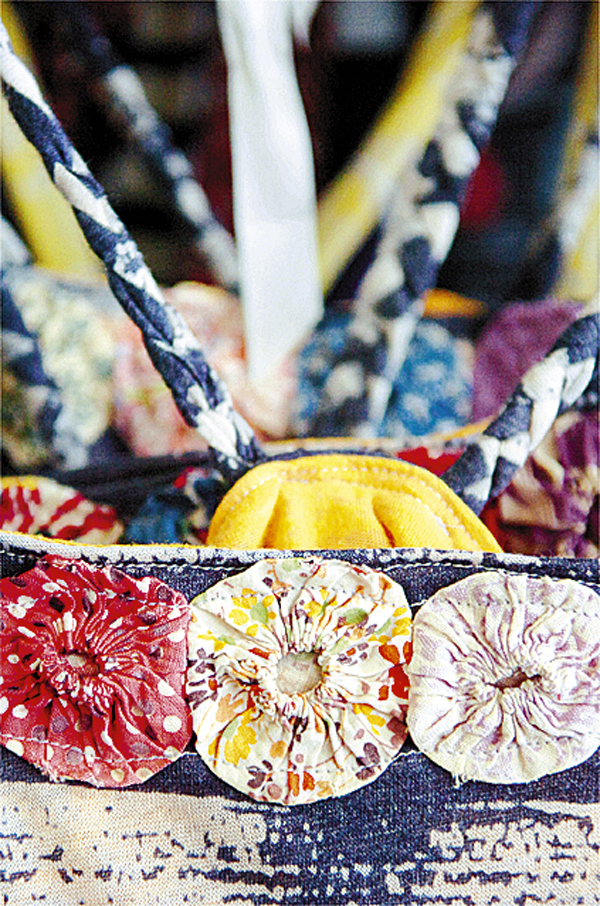 Detailing on a summer top is seen at Jessi Sader's Orono store on Thursday, May 27, 2010. BANGOR DAILY NEWS PHOTO BY BRIDGET BROWN