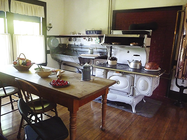 The kitchne in the Roosevelt Cottage at Roosevelt International Park. The park opened this weekend and attendance on Saturday, opening day, was 58 percent higher than last year.  BANGOR DAILY NEWS PHOTO BY SHARON KILEY MACK