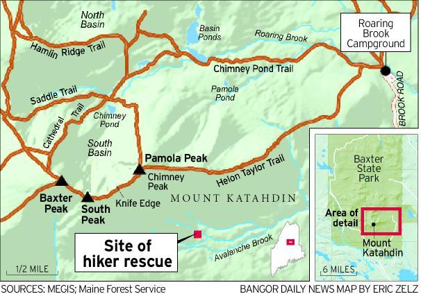 Mount Katahdin Trail Map - #GolfClub