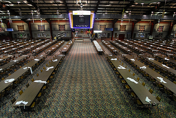 An interior view of the Sockalexis Bingo Palace on Indian Island is seen Monday. A committee hearing was held in Augusta on Monday regarding legislation to allow slot machines on Indian Island. The Bingo Palace likely would house the slot machines if they are allowed.  BANGOR DAILY NEWS FILE PHOTO BY JOHN CLARK RUSS