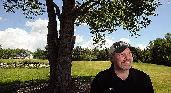 Joe Perdue golf pro and new owner of Hidden Meadows Golf Club in Old Town. BANGOR DAILY NEWS PHOTO BY GABOR DEGRE