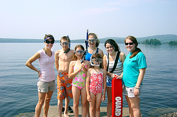 Water activities at Camp Rainbow.  photo: courtesy of the Maine chapter of the American Cancer Society.