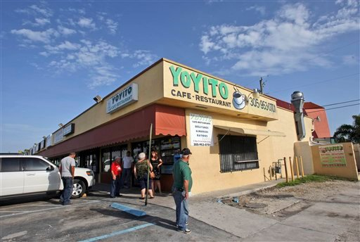 Yoyito Cafe-Restaurant si shown in Hialeah, Fla., Monday, June 7, 2010. Police say a gunman shot and killed four people at the restaurant Sunday night and wounded three others before killing himself. (AP Photo/Alan Diaz)