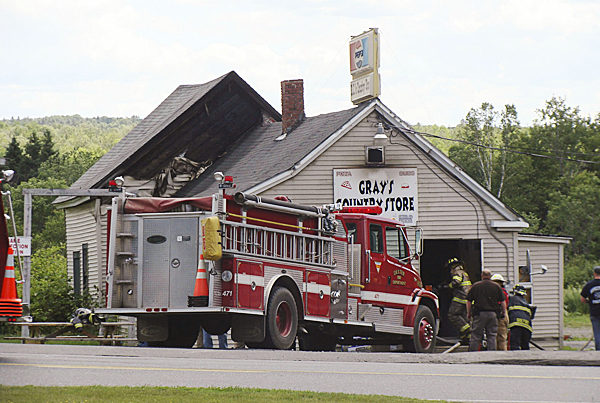 Gray's Country store, formerly KC's Country Store was gutted by fire  Monday, June 7, 2010 in Parkman. BANGOR DAILY NEWS PHOTO BY DIANA BOWLEY