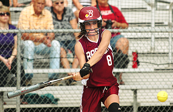 Bangor's Eliza Estabrook swings during action against Cony on Saturday, June 12, 2010 at Bangor.  BANGOR DAILY NEWS PHOTO BY KEVNI BENNETT