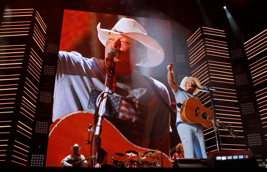 Alan Jackson performs during the CMA Music Festival Thursday, June 10, 2010 at LP Field in Nashville, Tenn. (AP Photo/Wade Payne)