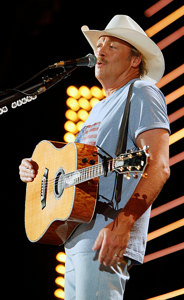 *** CORRECTS NAME OF SINGER *** Alan Jackson performs during the CMA Music Festival Thursday, June 10, 2010 at LP Field in Nashville, Tenn. (AP Photo/Wade Payne)