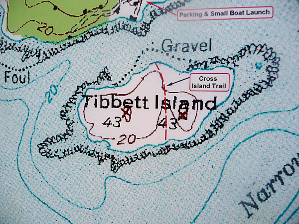 map of Tibbett Island. BANGOR DAILY NEWS PHOTO BY SHARON KILEY MACK