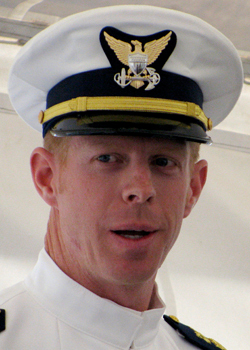 Chief Warrant Officer Sebastian C. Arnsdorf took command Thursday of Coast Guard Station Rockland. Arnsdorf, of Oregon, most recently was stationed in Kodiak, Alaska. BANGOR DAILY NEWS PHOTO BY ABIGAIL CURTIS