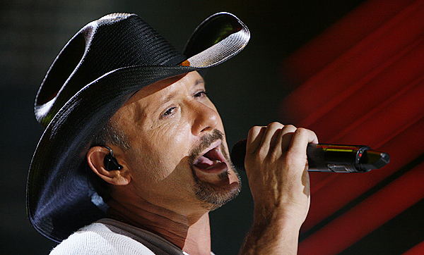 Tim McGraw performs during the CMA Music Festival Thursday, June 10, 2010 at LP Field in Nashville, Tenn. (AP Photo/Wade Payne)