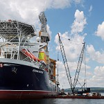 Oil drilling ship to be repaired off Rockland