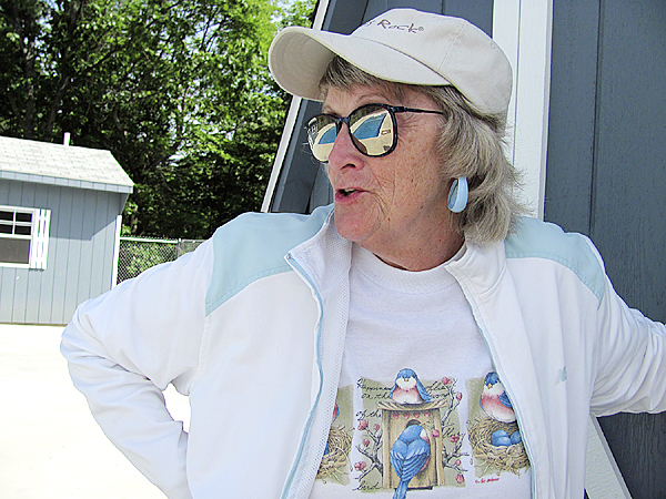 Barbara Day of the Hartland Pool Committee, shown in this June 22, 2010 photo, said she and a devoted group of citizens are doing everything they can to finish a public pool construction project in time for it to be enjoyed this summer. (Bangor Daily News/Christopher Cousins)