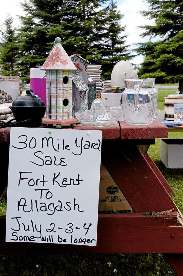 There was something for everyone during the weekend's giant yard sale stretching from Fort Kent to Allagash. JULIA BAYLY PHOTO