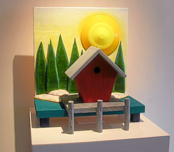 Birdhouses built, painted for charity on the midcoast. (Bangor Daily News/Heather Steeves)