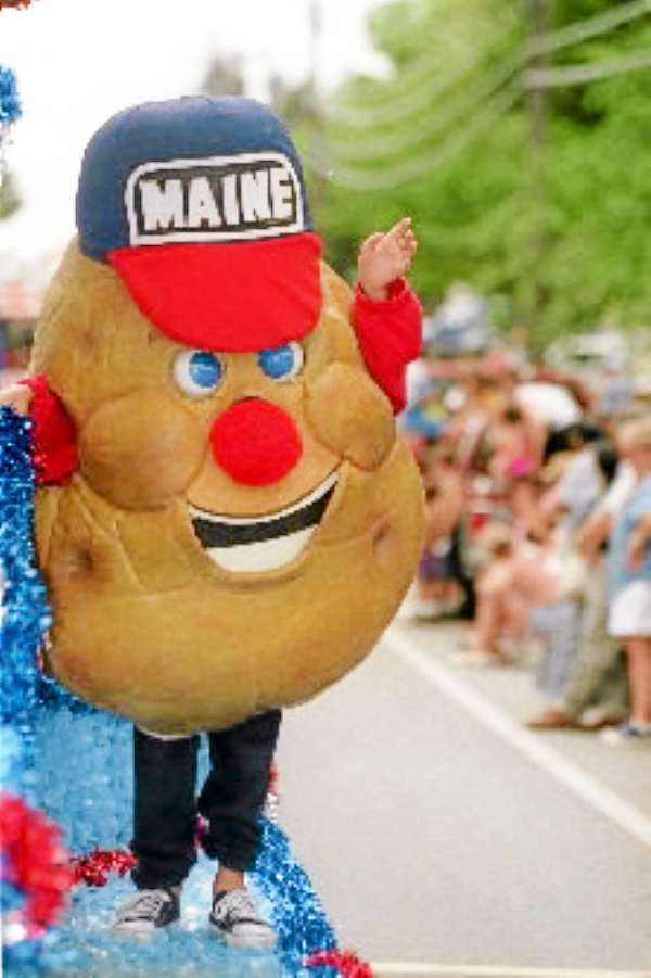 &quotSpuddy&quot the Maine Potato Board mascot at the Maine Potato Blossom Festival.